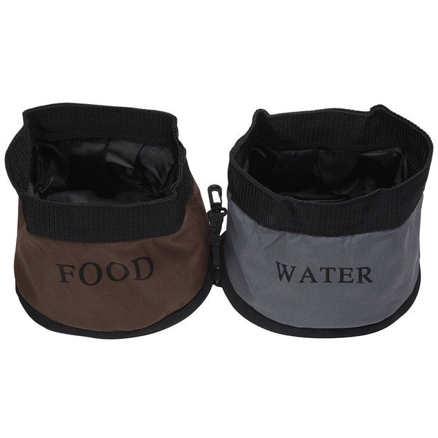 Double Water Travel Pet Bowl