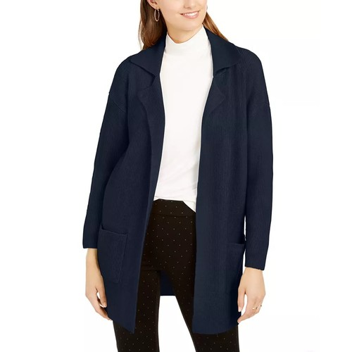 Style & Co Women's Open-Front Topper Jacket Navy Size Extra Large