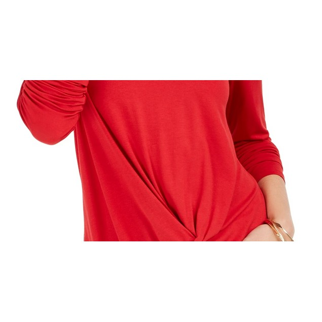 Style & Co Women's Twist Front Top Red Size Small