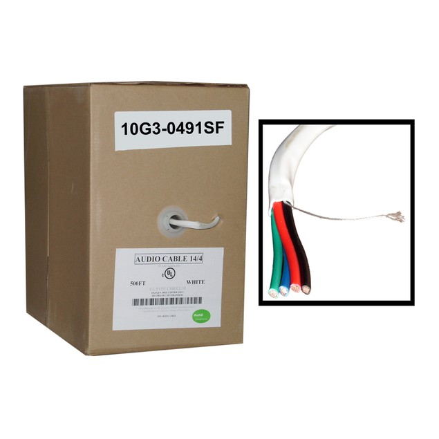 Speaker Cable,  CM / Inwall rated, 0.16mm, Pullbox, 500 foot