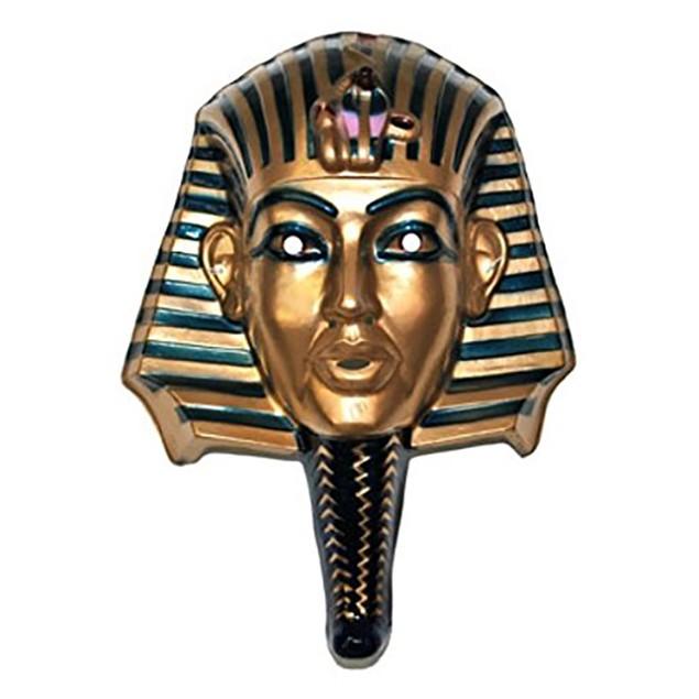 King Tut Egyptian Mask Egypt Pharaoh Tutankhamun Mummy Face Costume Cosplay
