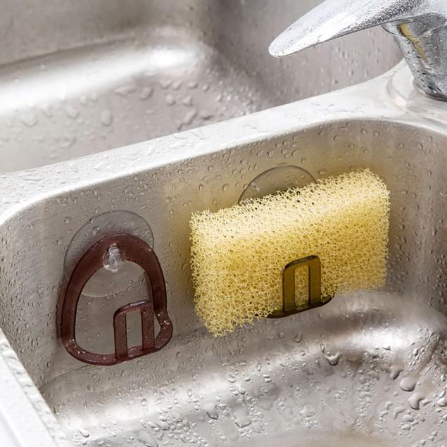 Suction Cup Kitchen Soap Sponge Storage Rack Sink Drain Shelf Holder