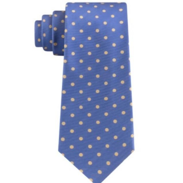 Tommy Hilfiger Men's Bright Preppy Dot Tie Yellow Size Regular