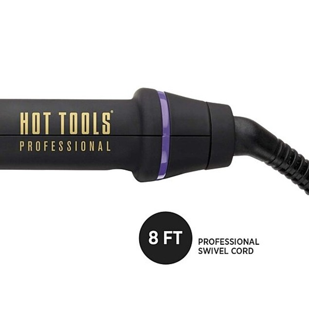 Hot Tools Professional Silicone Bristle Hot Brush Styler for Added Volume, 1 Inch