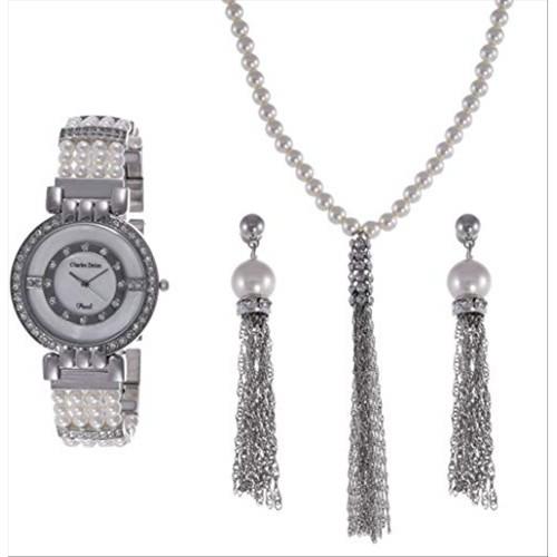 Charles Delon Women Watches 5706 LIMW Silver/Pearls/Silver Stainless Steel Quartz