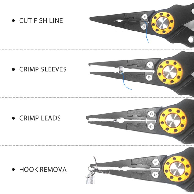 Fishing Plier Fish Lip Gripper with Sheath Ice Fishing Fishing Gear Tools