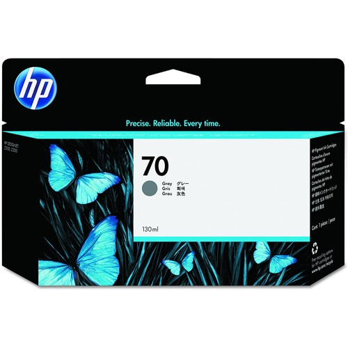HP 70 Gray 130-ml Genuine Ink Cartridge (C9450A) for DesignJet Z3200 & Z3100 Large Format Printers