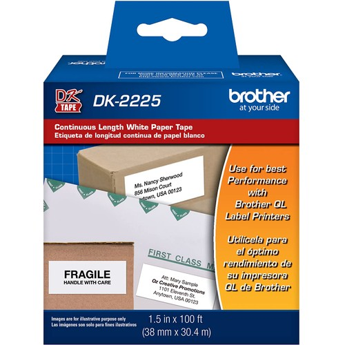 Brothers Brother Printer Continuous Length White Paper Tape (DK2225)