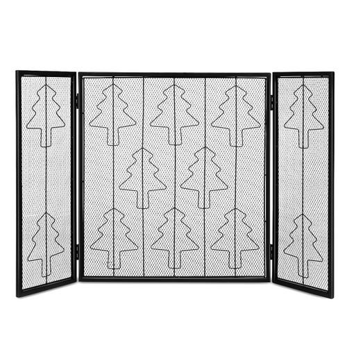 Costway Folding 3 Panel Steel Fireplace Screen Doors Heavy Duty Christmas T
