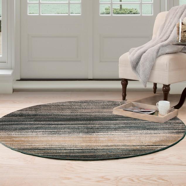 Lavish Home Opus Dark Abstract Stripes Area Rug