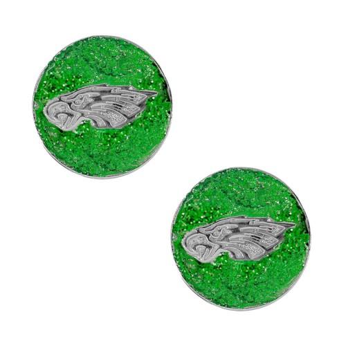 Philadellphia Eagle Glitter Sparkle Post Stud Logo Earring Set Charm Gift
