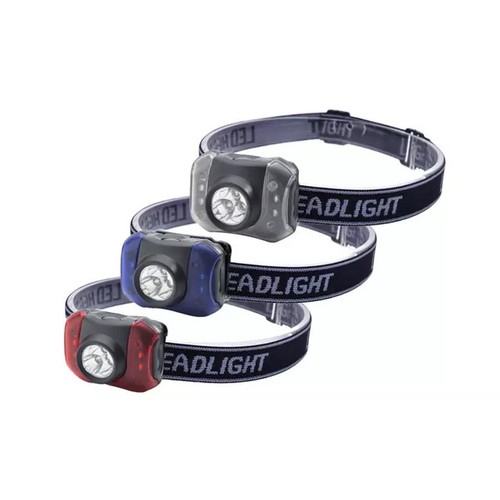 Outdoor Nation Hands-Free 7-LED Headlamp Camping Flashlights, Pack of 3