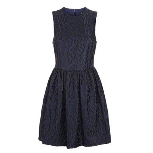 McQ Women's Volume Party Dress Navy 36 (US 0)