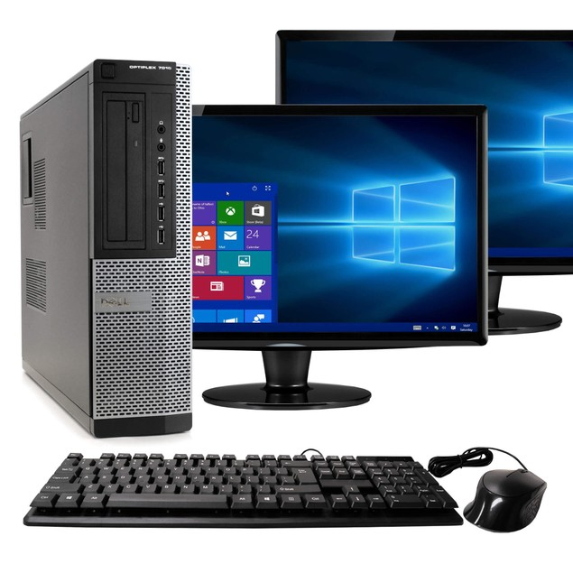 Dell 7010 Desktop Computer Intel i5 16GB 1TB HDD Win 10 Pro Dual