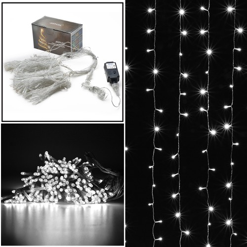 CURTAINS LIGHT 3MX3M 300 LED 8 MODEL WITH MEMORY FUNCTION STARRY FAIRY LIGHTS