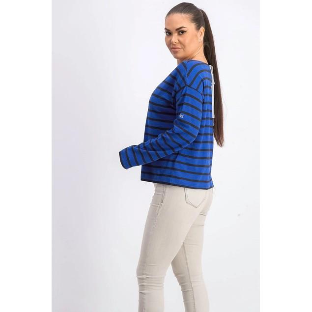 Levi's Women's Cora Cotton Sailor T-Shirt Blue Size Medium