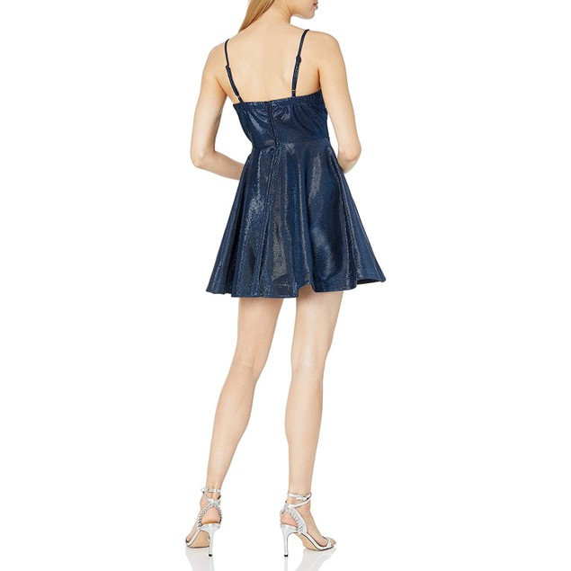 Speechless Women's Fit and Flare Party Dress with Peek-a-Boo Bodice, 7,