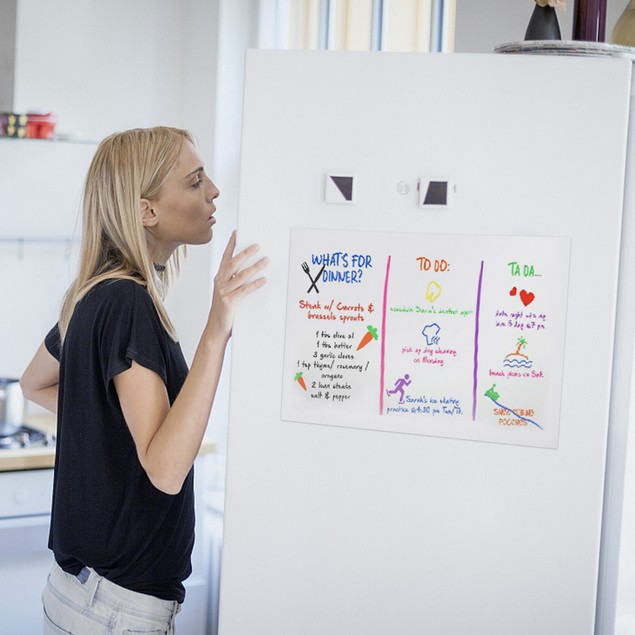 Refrigerator Type Whiteboard Sticker With 3PCS Whiteboard Pen