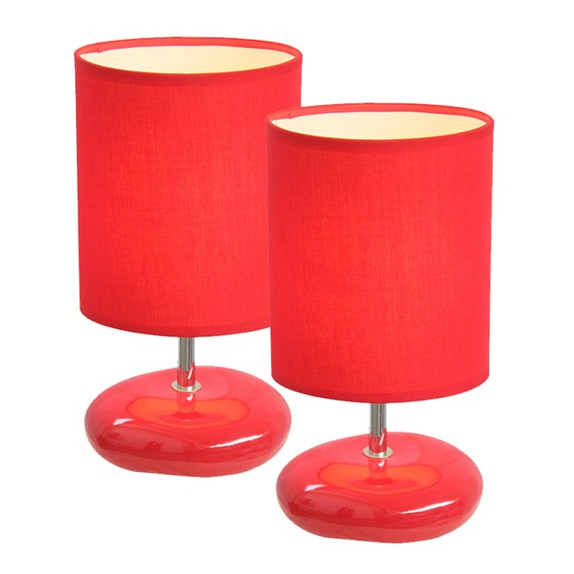 Simple Designs Stonies Small Stone Look Lamp 2 Pack