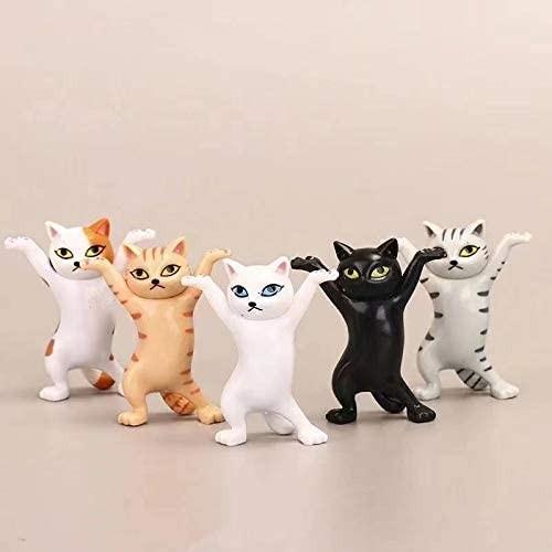 5-Pack Funny Cat Holder For Desk Decor