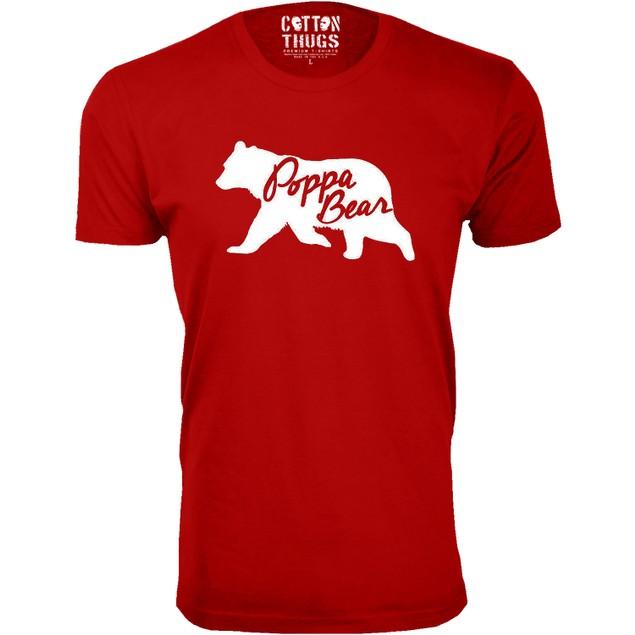Men's Poppa Bear Silhouette Dad T-Shirts