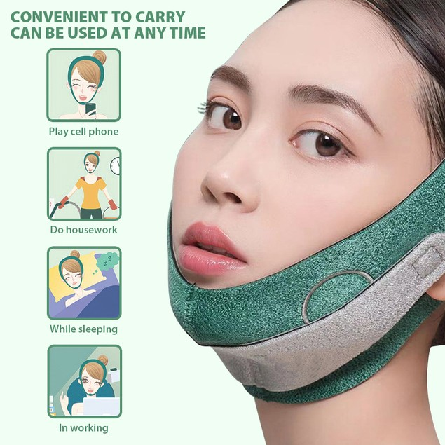 Face Slimming Strap Double Chin Reducer V Line Mask Reusable Chin Up Belt