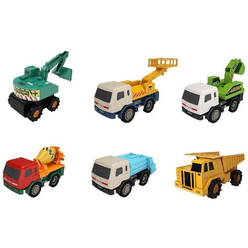 MOTA Mini Heavy Industrial Toy Truck Set 6 Piece Construction Vehicle Fleet