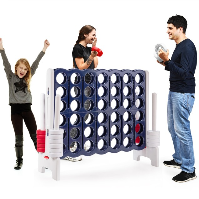 Costway Jumbo 4-to-Score 4 in A Row Giant Game Set Indoor Outdoor Adults Ki