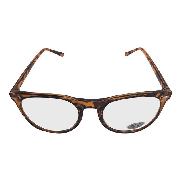 Brown Tortoise Rounded Frame Clear Glasses  Johnny Depp Sunglasses Lens