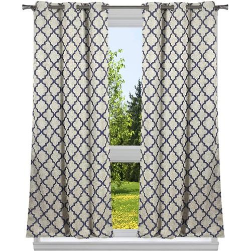 Geometric Blackout Grommet Window Curtain Set