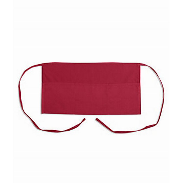 Waitress Apron Waiter Burgundy Accessory Server 11 Inch 3 Pocket