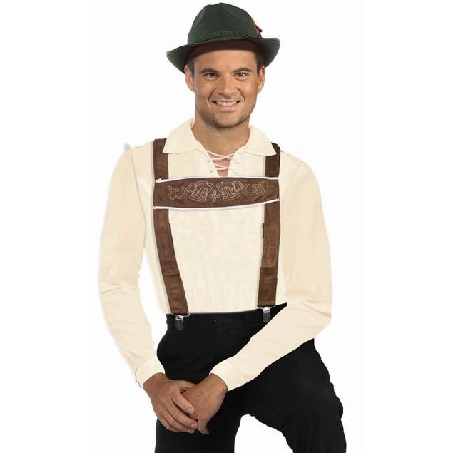 Lederhosen Adult Suspenders Costume Oktoberfest Octoberfest German Bavarian