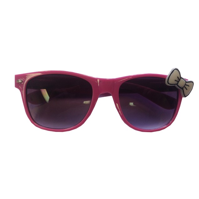 Pink Sunglasses With White Bow Hello Kitty Nerd Accessory Adult