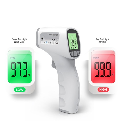 Jumper Non-Contact Digital Forehead Infrared Thermometer, with 3-Modes