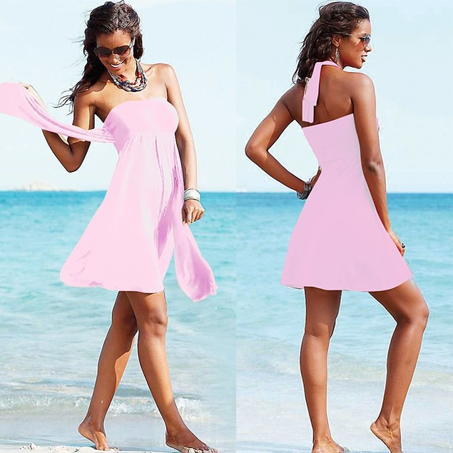 Wear More Elegant Tube Top Dress Swimsuits
