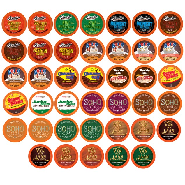 Two Rivers Hot Chocolate Pods for Keurig, Variety Sampler Pack, 40 count