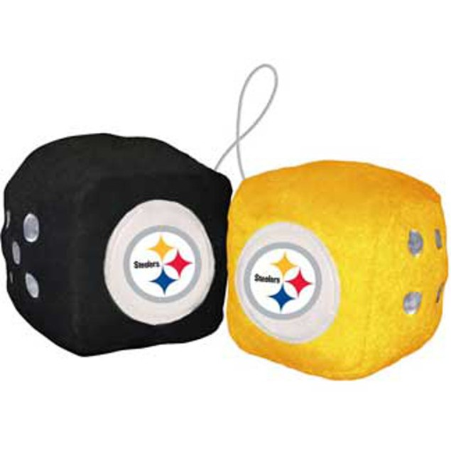 Pittsburgh Steelers Fuzzy Dice NFL Football Team Logo Plush Car Truck Auto