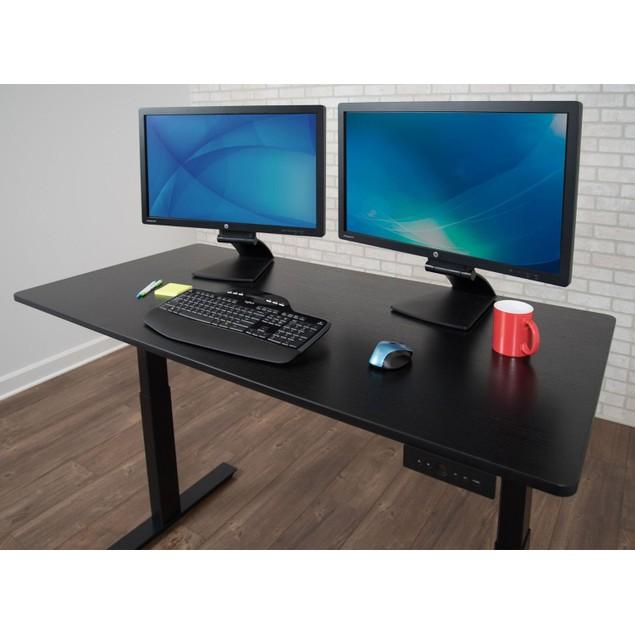 "Luxor 60"" Electric Standing Desk - Black/Black"