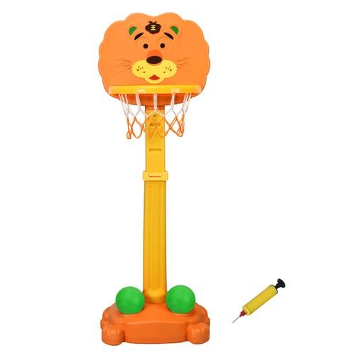Costway Adjustable Kids 3-in-1 Sports Activity Center Tiger Basketball Hoop