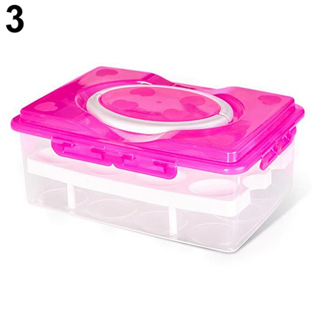 Double Layers 24 Grids Eggs Holder Box