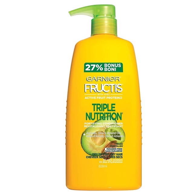 Garnier Fructis triple nutrition fortifying conditioner with avocado, oliv