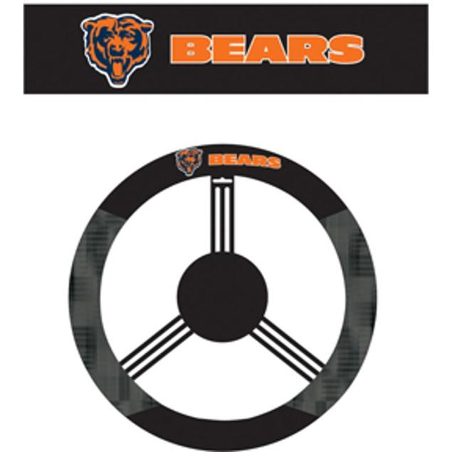 Chicago Bears Steering Wheel Cover NFL Football Team Logo Poly Mesh