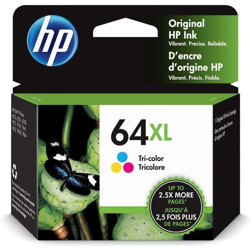 HP 64XL | Ink Cartridge | Works with HP ENVY Photo 6200 Series, 7100 Series, 7800 Series, HP Tango and HP Tango X | Tri-Color | N9J91AN