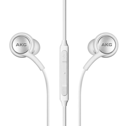 Samsung Earphones by AKG For Galaxy S8 & S8 Plus with Extra Ear Gel - White