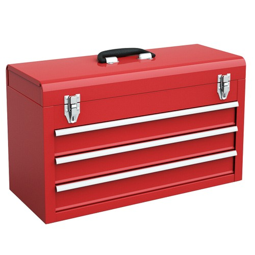 Costway Portable Tool Chest Box Storage Cabinet Garage Mechanic Organizer 3