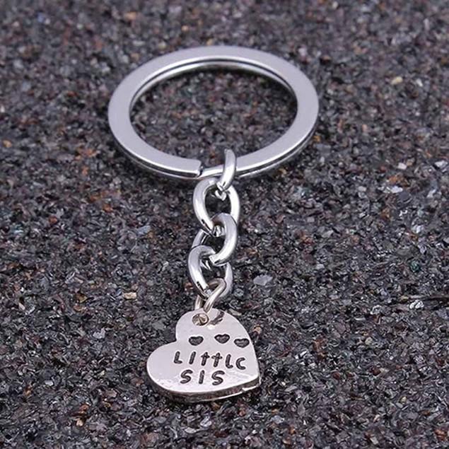 3Pc Big Middle Little Heart Pendant Friendship Kinship Key Rings Chains