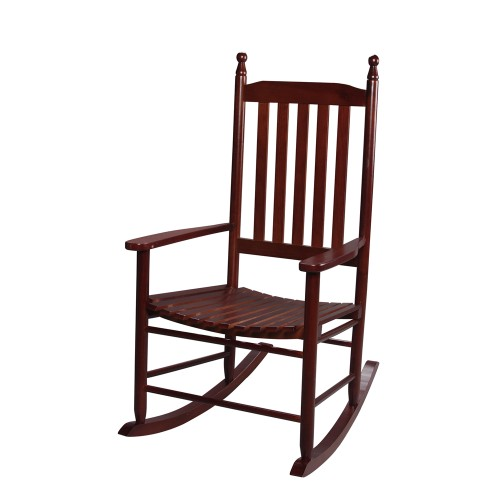 Gift Mark Adult Tall Back Rocking Chair -Cherry