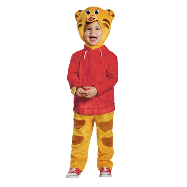 Daniel Tiger Deluxe Toddler Costume Boys PBS Kids Watch Jumpsuit Red