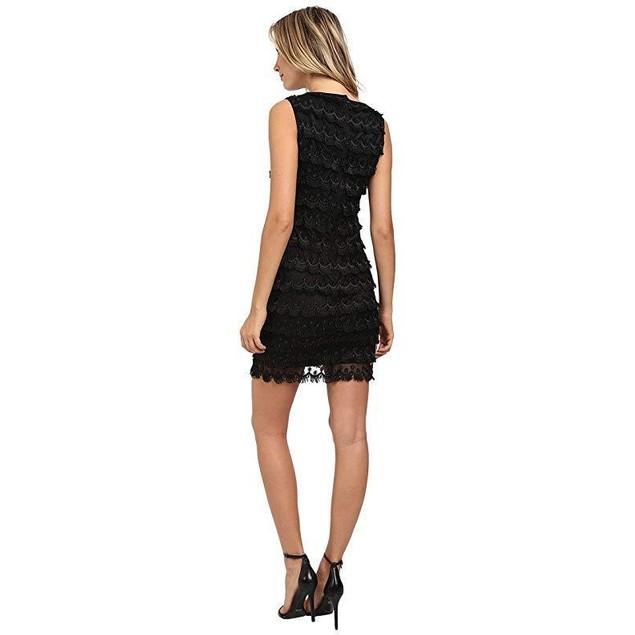 Tahari by ASL Women's Fringe Dress Black 10