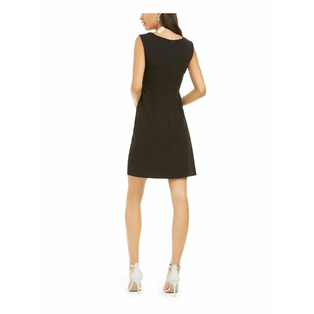 Connected Women's Rhinestone Collar A-Line Dress Black Size 10